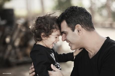 צילום אבא ובן